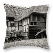 Thatched Watermill 3  Throw Pillow