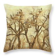 Thats A Lot Of Great Blue Heron Throw Pillow