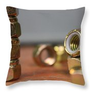 That's A Lot Of Nuts Throw Pillow