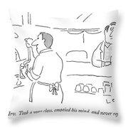 That's Irv.  Took A Yoga Class Throw Pillow
