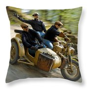 That's The Way To Ride An Army Bmw R75  Throw Pillow