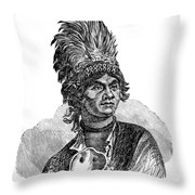 Thayendanegea, Joseph Brant, Mohawk Throw Pillow