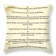 The 10 Commandments  For Pets  Antique Marble Throw Pillow