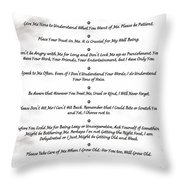 The 10 Commandments For Pets On Black Marble Throw Pillow