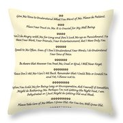 The 10 Commandments For Pets On Old Parchment Throw Pillow