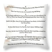 The 10 Commandments For Pets On Red Marble Throw Pillow