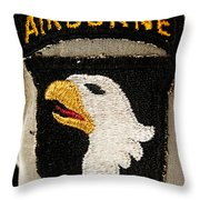 The 101st Airborne Division Emblem Throw Pillow