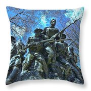 The 107th Infantry Memorial Sculpture Throw Pillow