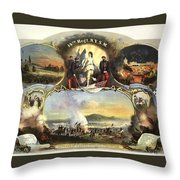 The 14th Regiment New York State Militia Throw Pillow by Unknown