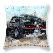 The 1967 Shelby Gt-500 Eleanor Throw Pillow