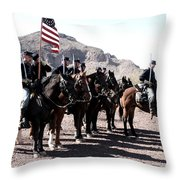 The 1st California U S Cavelry Throw Pillow