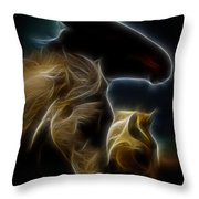 The 3 Shadow Horses Throw Pillow