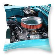 The 327 In A 1955 Chevy Throw Pillow