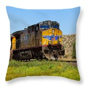 The 5789 Union Pacific Train Throw Pillow