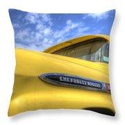 The 59 Yellow Apache Throw Pillow