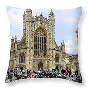 The Abby At Bath Throw Pillow by Mike McGlothlen