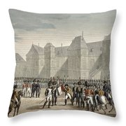 The Abdication Of Napoleon Throw Pillow