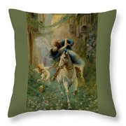 The Abduction In Cairo Throw Pillow