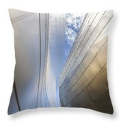 The Abstract Curves Of The Disney Concert Hall Throw Pillow