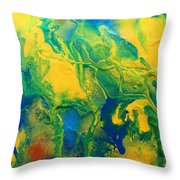 The Abstract Earth Throw Pillow