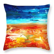 The Abstract Rainbow Beach Series II Throw Pillow