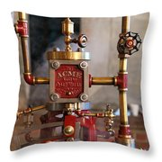 The Acme Steam Engine Throw Pillow