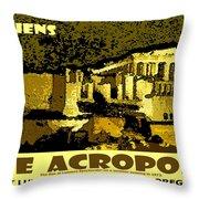 The Acropolis Athens Throw Pillow