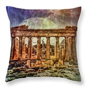 The Acropolis Of Athens Throw Pillow