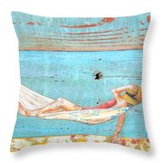 The Activity Of Soul Resting Throw Pillow by Danny Phillips
