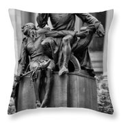 The Actor Statue Philadelphia Throw Pillow