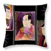 The Actors Sawamura-otani Oniji And Ichikawa Yaozo Throw Pillow