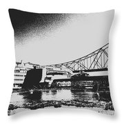 The Admiral And President's Casino In Ink Stamp Throw Pillow