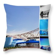The Admiral Collage Throw Pillow