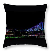 The Admiral In Neon Throw Pillow