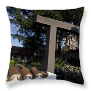 The Adobe Santa Clara California Throw Pillow