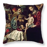 The Adoration Of The Magi, 1620 Oil On Canvas Throw Pillow