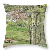 The Advent Of Spring Throw Pillow