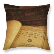 The Adventures Of Huckleberry Finn Throw Pillow by Edward Fielding