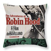 The Adventures Of Robin Hood B Throw Pillow