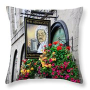 The Advocate Pub Throw Pillow