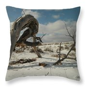 The Agony Of Living Or Dying Throw Pillow