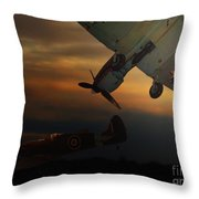 The Air Battle Of Britain Throw Pillow