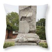 The Airborne Monument In Arnhem Throw Pillow