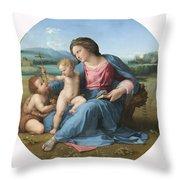 The Alba Madonna Throw Pillow by Raffaello Sanzio of Urbino