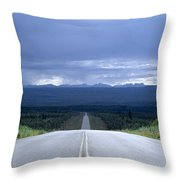 The Alcan Hwy Throw Pillow
