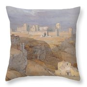 The Alcazar Of Carmona, Andalucia Throw Pillow