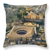 The Alhambra Aerial Throw Pillow