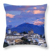 The Alhambra And Granada Throw Pillow