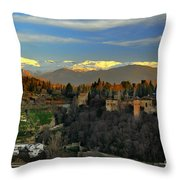 The Alhambra Palace Granada Spain Throw Pillow