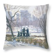 The Alice In Wonderland Statue, Central Park, New York Throw Pillow